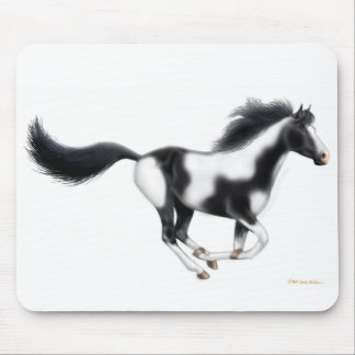 Galloping Paint Horse Mousepad
