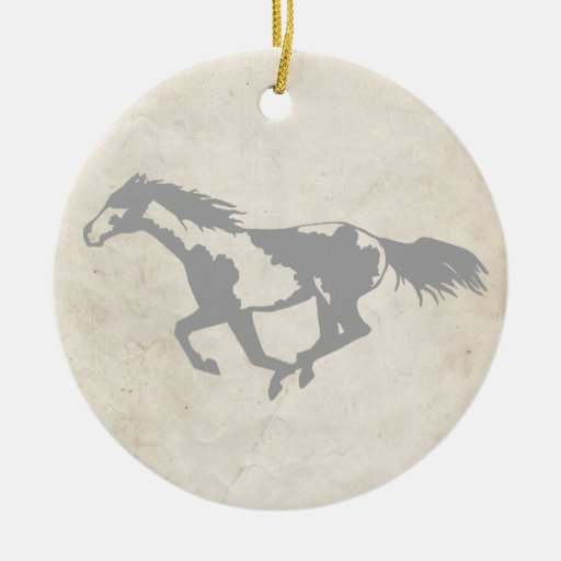 Galloping Paint Horse Christmas Tree Ornament