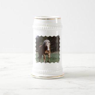 Galloping Palomino  Beer Stein 18 Oz Beer Stein