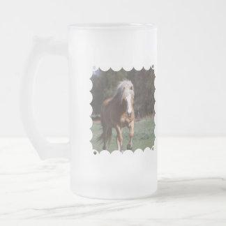Galloping Palomino  Frosted Mug