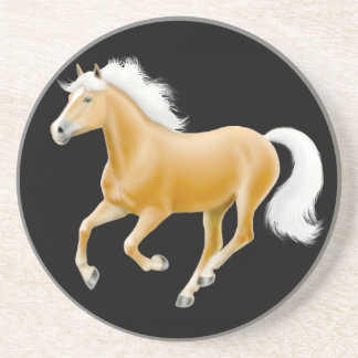 Galloping Palomino Haflinger Horse Coaster