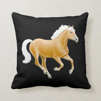 Galloping Palomino Haflinger Horse Pillow