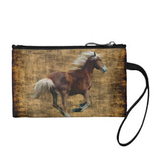 Galloping Palomino Horse lover's Coin Purse