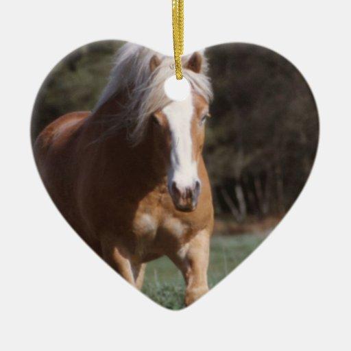 Galloping Palomino  Ornament