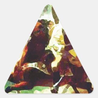 Galloping Patriot Triangle Sticker