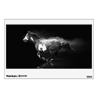Galloping Pinto Horse and Smoke Wall Skins