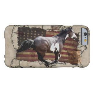Galloping Pinto Paint USA Pony Express Horse Barely There iPhone 6 Case