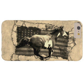 Galloping Pinto Paint USA Pony Express Horse Barely There iPhone 6 Plus Case