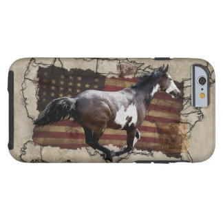 Galloping Pinto Paint USA Pony Express Horse Tough iPhone 6 Case