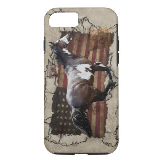 Galloping Pinto Paint USA Pony Express Horse iPhone 8/7 Case