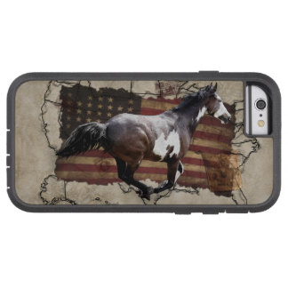 Galloping Pinto Paint USA Pony Express Horse Tough Xtreme iPhone 6 Case