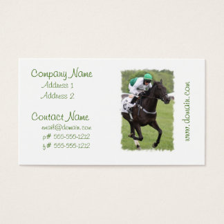 Galloping Race Horse Business Cards