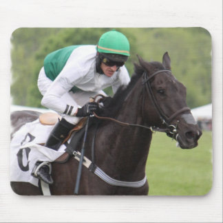 Galloping Race Horse Mouse Pad