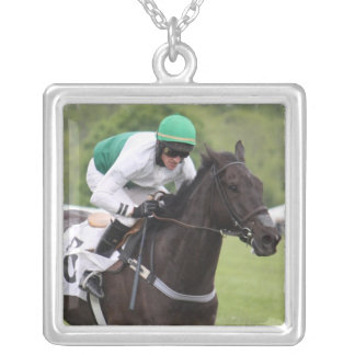 Galloping Race Horse Necklace