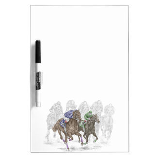 Galloping Race Horses Dry-Erase Board
