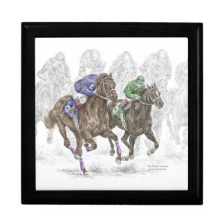 Galloping Race Horses Trinket Box