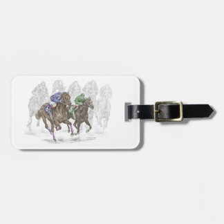 Galloping Race Horses Luggage Tag