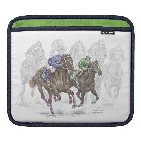 Galloping Race Horses Sleeve For iPads