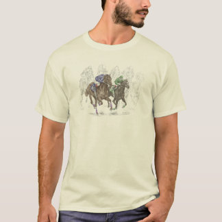 Galloping Race Horses T-Shirt