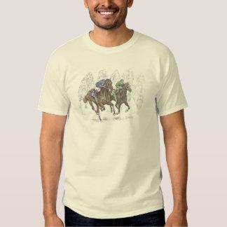 Galloping Race Horses Tee Shirt