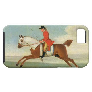 Galloping Racehorse and mounted Jockey in Red (oil iPhone SE/5/5s Case