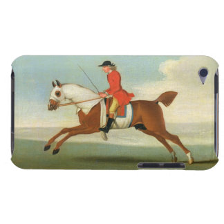 Galloping Racehorse and mounted Jockey in Red (oil iPod Touch Case-Mate Case