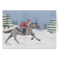 Galloping Santa Card