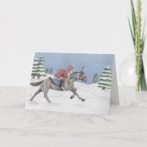 Galloping Santa Holiday Card
