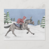 Galloping Santa Holiday Postcard