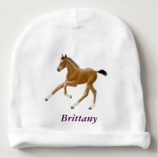 Galloping Thoroughbred Horse Foal Baby Hat