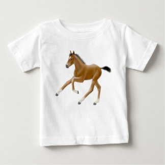 Galloping Thoroughbred Horse Foal Baby Shirt