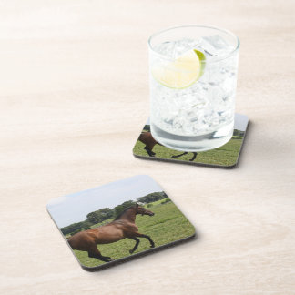 Galloping Thoroughbred  Set of Coasters