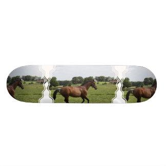 Galloping Thoroughbred  Skateboard