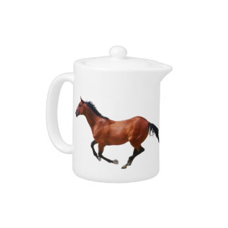Galloping Thoroughbred Teapot