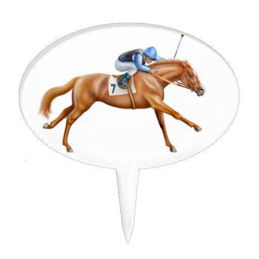 Galloping Throughbred Race Horse Cake Pick