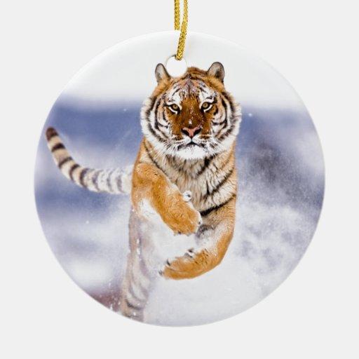 Galloping Tiger Christmas Ornament