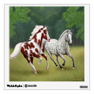 Galloping Western Horses Wall Decal