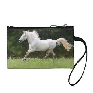 Galloping White Horse Change Purse