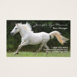 Galloping White Horse Business Card