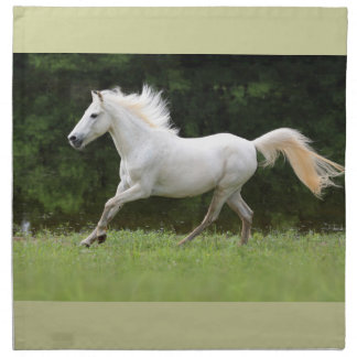 Galloping White Horse Cloth Napkin