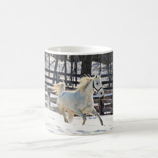 Galloping White Horse Coffee Mug