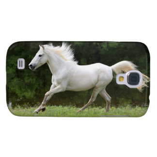 Galloping White Horse Galaxy S4 Cover