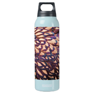 Galloping White Horse in the Snow Insulated Water Bottle