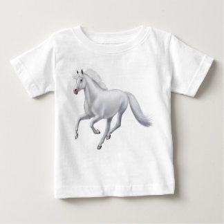 Galloping White Horse Infant T-Shirt