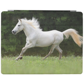 Galloping White Horse iPad Smart Cover