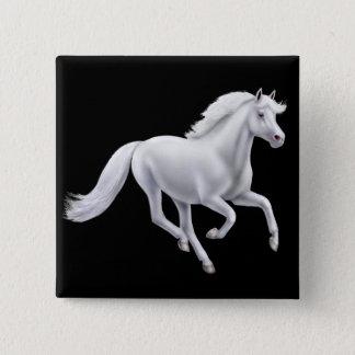 Galloping White Horse Pin