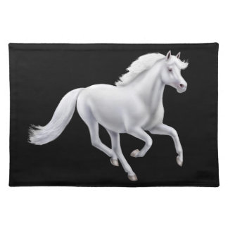 Galloping White Horse Placemat