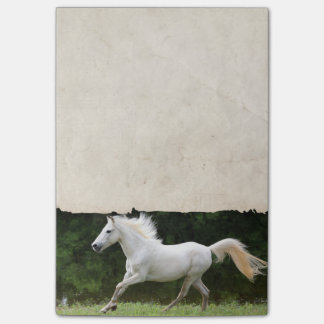 Galloping White Horse Post-it Notes