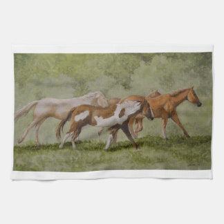 Galloping Wild Horse Kitchen Towel