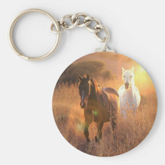 Galloping Wild Horses Keychain